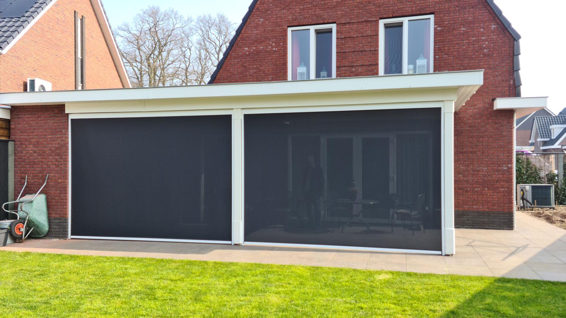 Screens voor uw overkapping - Groenevelt Zonwering & Raamdecoratie.
